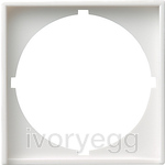 Adapter frame 50x50 round System 55 pure white